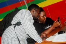 Product Manager, Karungi Terry demonstrating Matatu