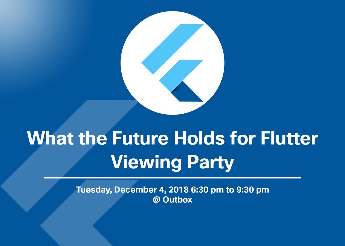 What the Future Holds for Flutter - Viewing Party