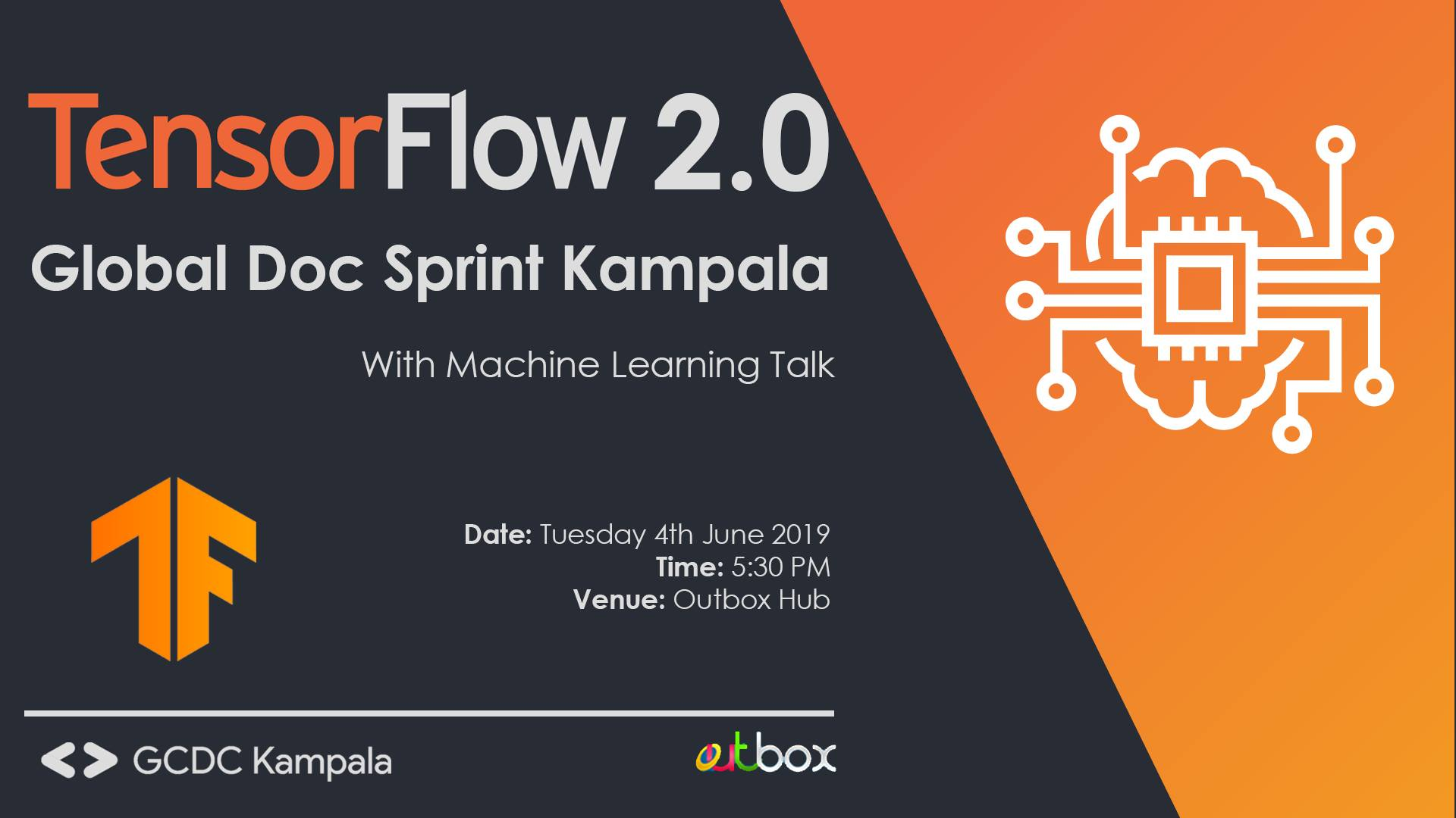 TensorFlow 2.0 Global Doc Sprint Kampala, Outbox Hub