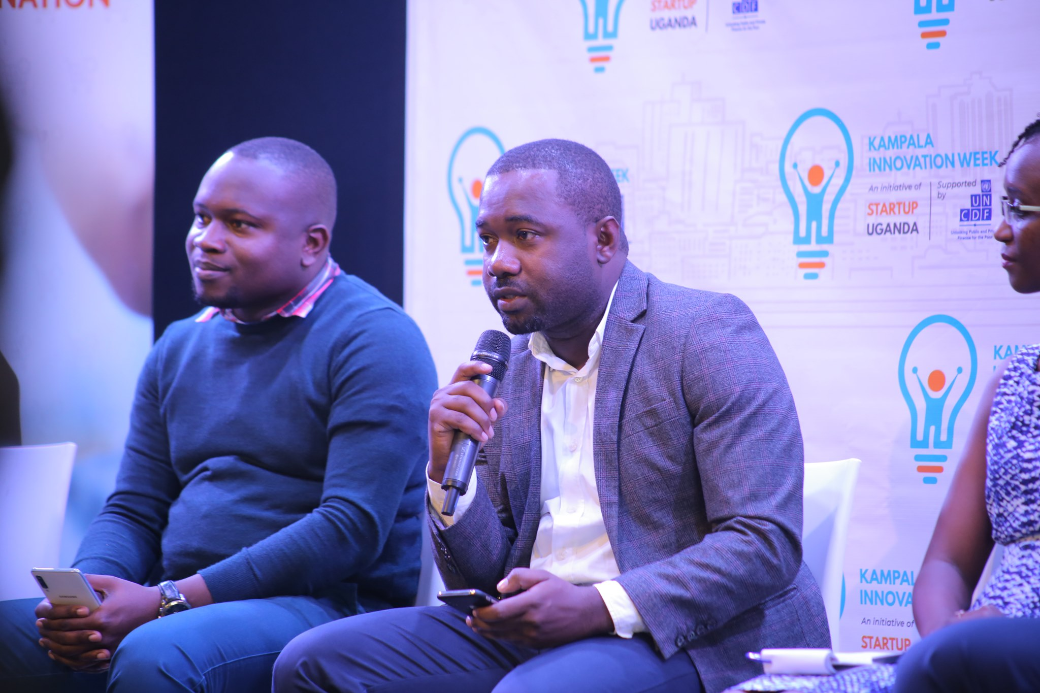 Richard Zulu & CK Japeth during the press conference to announce the Kampala Innovation Week