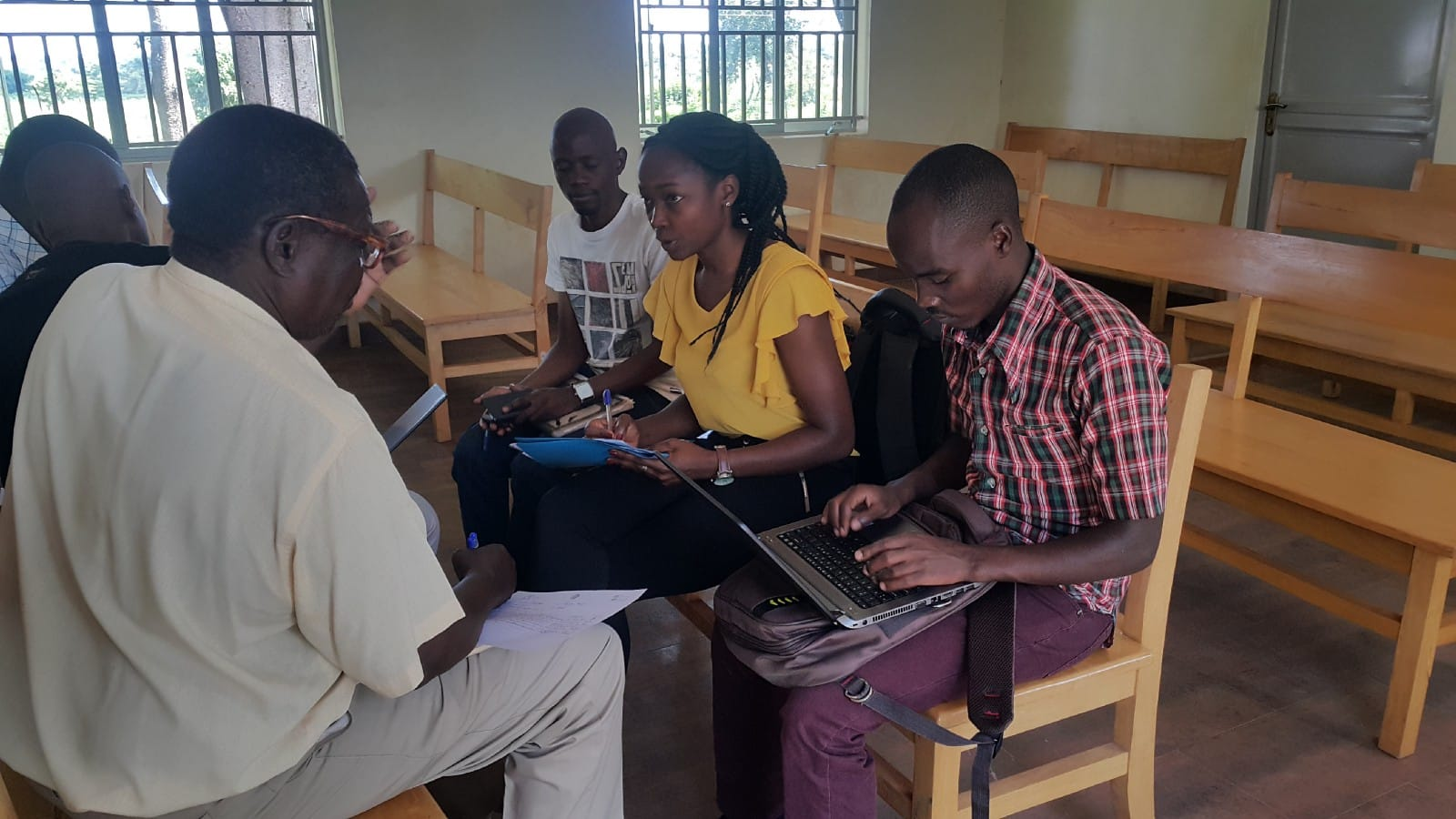 The team carries out needs assessment in Bukedea Health Center IV, Eastern Uganda