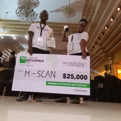 M-Scan wins TechCrunch Startup Battleield Arica 2018